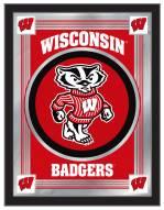 Wisconsin Badgers Logo Mirror