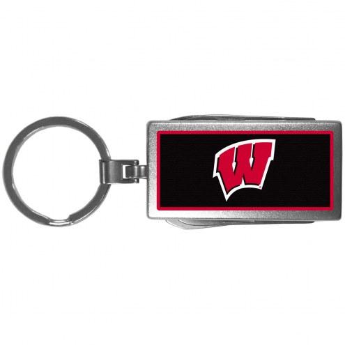 Wisconsin Badgers Logo Multi-tool Key Chain