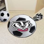 Wisconsin Badgers Logo Soccer Ball Mat