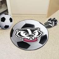 Wisconsin Badgers Logo Soccer Ball Mat