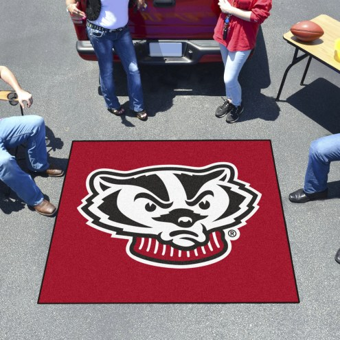 Wisconsin Badgers Logo Tailgate Mat