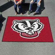Wisconsin Badgers Logo Ulti-Mat Area Rug