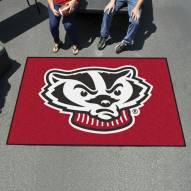 Wisconsin Badgers Logo Ulti-Mat Area Rug