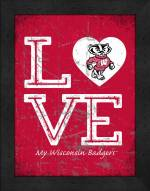 Wisconsin Badgers Love My Team Vertical Color Wall Decor