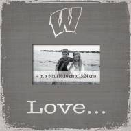 Wisconsin Badgers Love Picture Frame