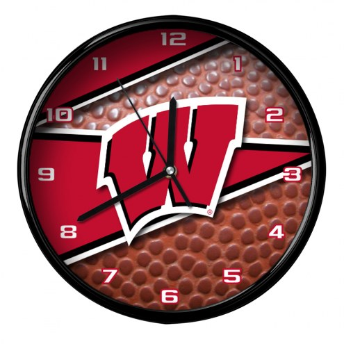 Wisconsin Badgers Football Clock