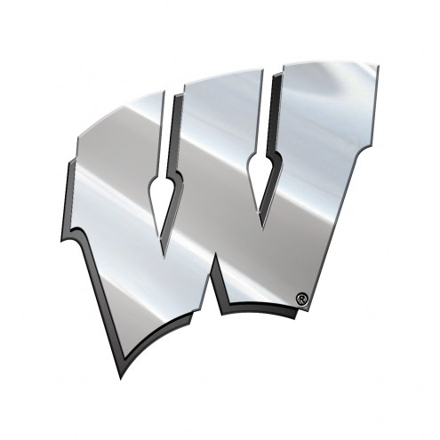 Wisconsin Badgers Metal Car Emblem
