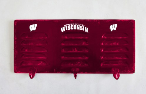 Wisconsin Badgers Metal Coat Rack