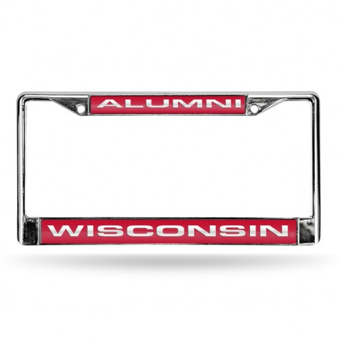 Wisconsin Badgers NCAA Chrome Alumni License Plate Frame