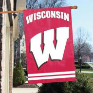 Wisconsin Badgers NCAA Embroidered / Applique College Flag Banner