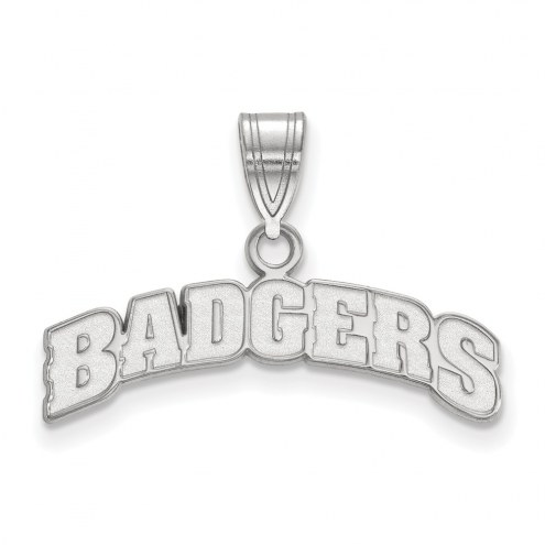 Wisconsin Badgers Sterling Silver Medium Pendant