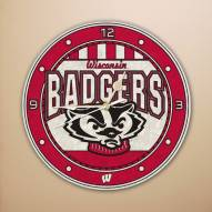 Wisconsin Badgers NCAA Stained Glass Wall Clock