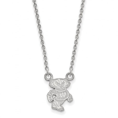 Wisconsin Badgers Sterling Silver Small Pendant Necklace