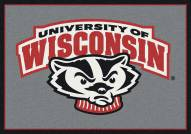 Wisconsin Badgers NCAA Team Spirit Area Rug