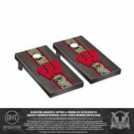 Wisconsin Badgers Operation Hat Trick Stained Cornhole Game Set