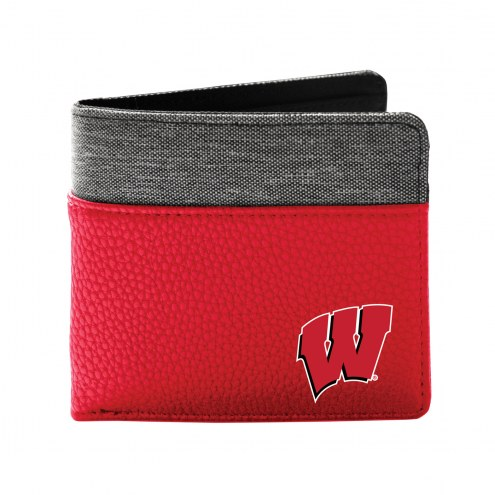 Wisconsin Badgers Pebble Bi-Fold Wallet