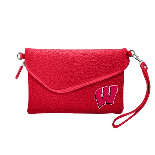 Wisconsin Badgers Pebble Fold Over Purse