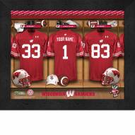 Wisconsin Badgers Personalized Locker Room 11 x 14 Framed Photograph