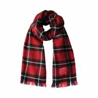 Wisconsin Badgers Plaid Blanket Scarf