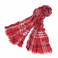 Wisconsin Badgers Plaid Crinkle Scarf
