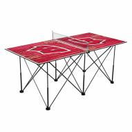 Wisconsin Badgers Pop Up 6' Ping Pong Table