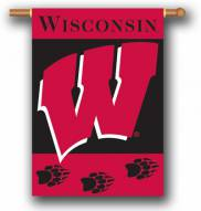 """Wisconsin Badgers Premium 28"""" x 40"""" Two-Sided Banner"""