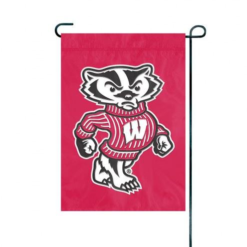 Wisconsin Badgers Premium Garden Flag