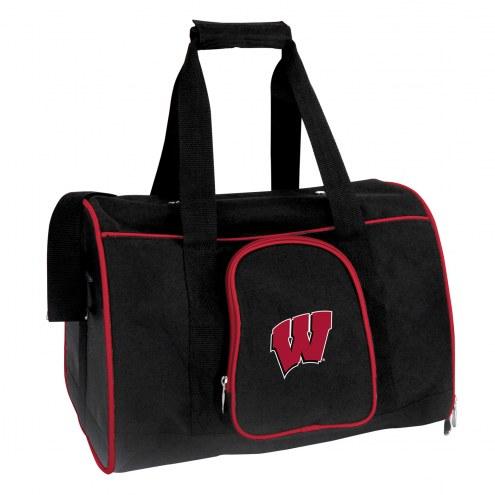 Wisconsin Badgers Premium Pet Carrier Bag