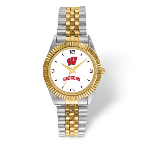 Wisconsin Badgers Pro Two-Tone Gents Watch