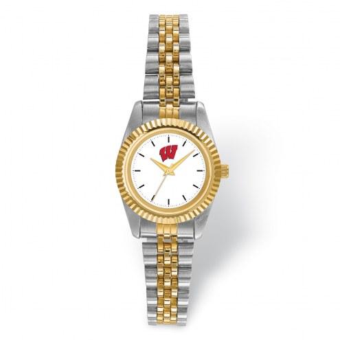 Wisconsin Badgers Pro Two-Tone Ladies Watch