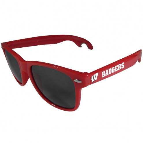 Wisconsin Badgers Red Beachfarer Bottle Opener Sunglasses
