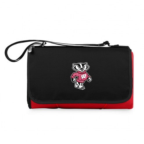 Wisconsin Badgers Red Blanket Tote