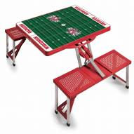 Wisconsin Badgers Red Folding Picnic Table