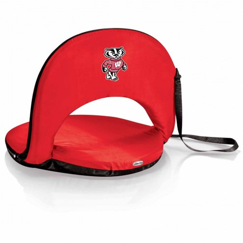 Wisconsin Badgers Red Oniva Beach Chair