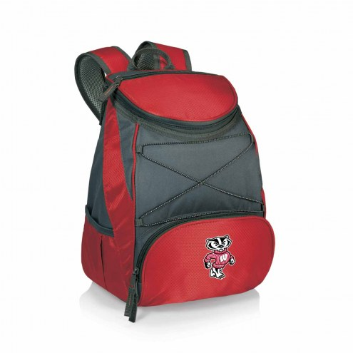Wisconsin Badgers Red PTX Backpack Cooler