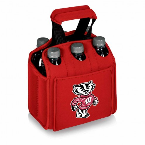 Wisconsin Badgers Red Six Pack Cooler Tote