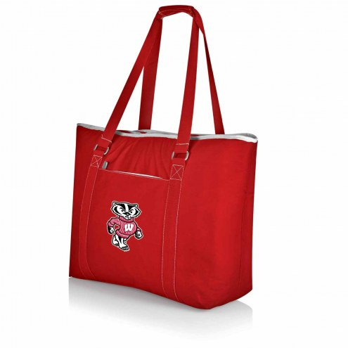 Wisconsin Badgers Red Tahoe Beach Bag
