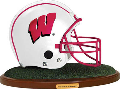 Wisconsin Badgers Collectible Football Helmet Figurine