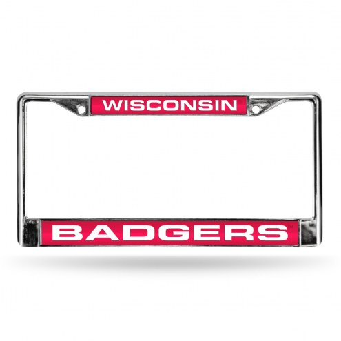Wisconsin Badgers Laser Chrome License Plate Frame