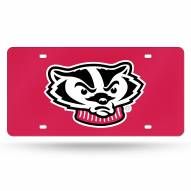 Wisconsin Badgers Laser Cut License Plate