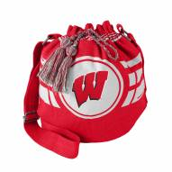 Wisconsin Badgers Ripple Drawstring Bucket Bag