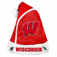 Wisconsin Badgers Santa Hat