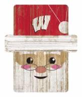 Wisconsin Badgers Santa Ornament