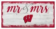 Wisconsin Badgers Script Mr. & Mrs. Sign