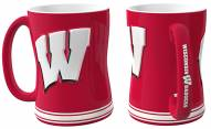 Wisconsin Badgers Sculpted Relief Coffee Mug