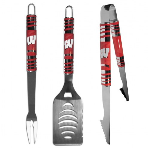Wisconsin Badgers 3 Piece Tailgater BBQ Set