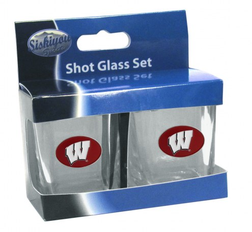 Wisconsin Badgers Shot Glass Set