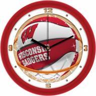 Wisconsin Badgers Slam Dunk Wall Clock
