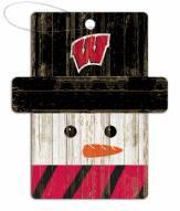 Wisconsin Badgers Snowman Ornament
