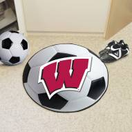 Wisconsin Badgers Soccer Ball Mat